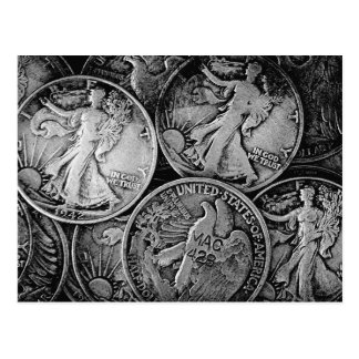 Walking Liberty Coins Postcard