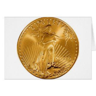 Walking Liberty Golden Coin Card