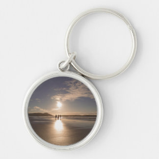 Walking off into the sunset keychain