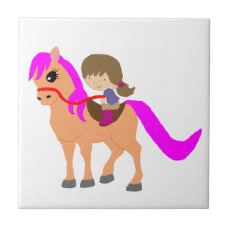 Walking on my pony tile