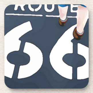 Walking on Route 66 Drink Coasters