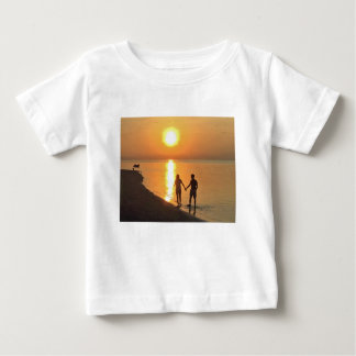 Walking on the beach baby T-Shirt