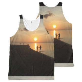 Walking on the Beach for a Bali Sunrise All-Over-Print Tank Top