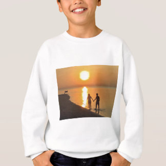Walking on the beach sweatshirt