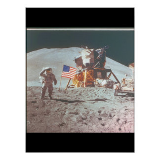 Walking on the moon_Space Poster