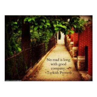 Walking Path & Friendship Proverb Postcard