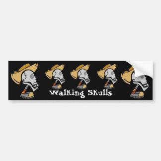 Walking Skulls Bumper Sticker