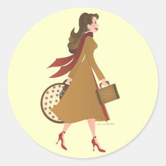 Walking Round Sticker