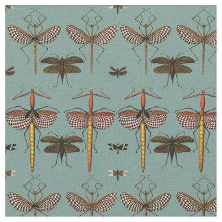 Walking sticks, Katydids and Dragonflies Fabric
