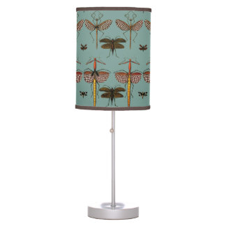 Walking sticks, Katydids and Dragonflies Table Lamp