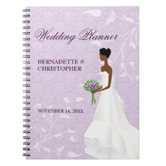 Walking the Aisle Purple Wedding Planner Notebook