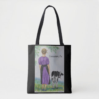 Walking the Calf  Lancaster Pa Tote Bag