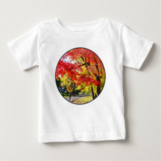 Walking The Dog In Autumn Baby T-Shirt