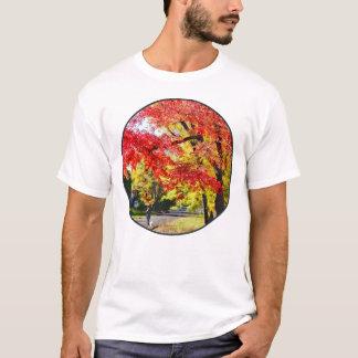 Walking The Dog In Autumn T-Shirt