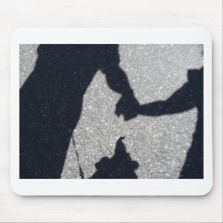 Walking the dog in shadow and light mouse pads