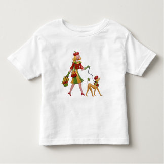 Walking the dog in style! toddler t-shirt