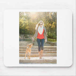 Walking the dog mouse pad
