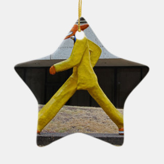 Walking the Dogs by Gilbert Magu Sanchez -horizont Ceramic Star Ornament