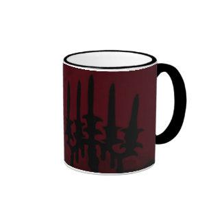 Walking Through the Village ~ Ringer Coffee Mug