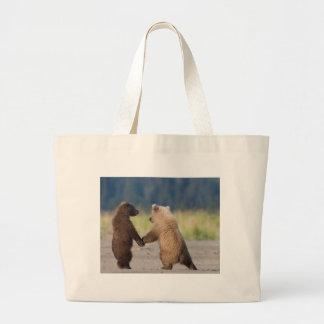 Walking Together Hand In Hand Large Tote Bag