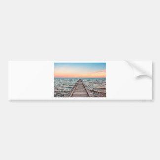 Walking towards the infinity of the sea bumper sticker