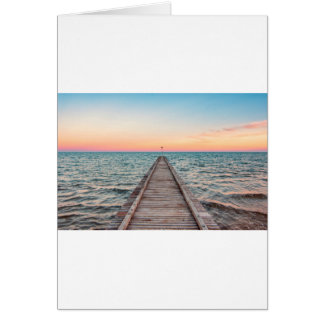 Walking towards the infinity of the sea card