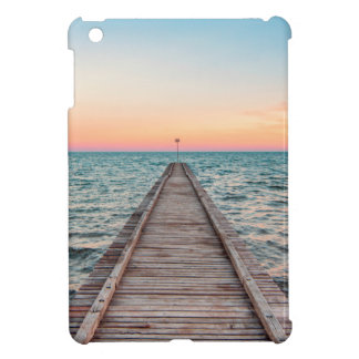 Walking towards the infinity of the sea iPad mini case