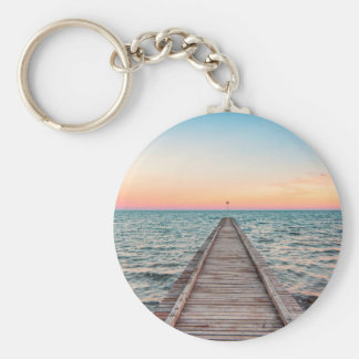 Walking towards the infinity of the sea keychain