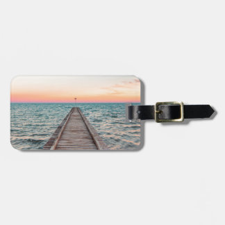 Walking towards the infinity of the sea luggage tag