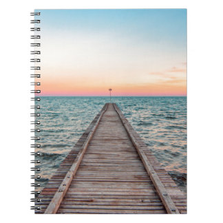 Walking towards the infinity of the sea notebook