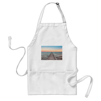 Walking towards the infinity of the sea standard apron