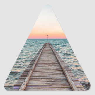 Walking towards the infinity of the sea triangle sticker