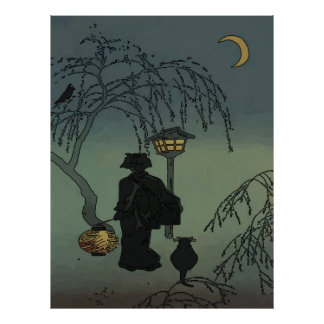 Walking Under Moon Light Poster
