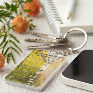 Walking under the trees in Autumn I Keychain
