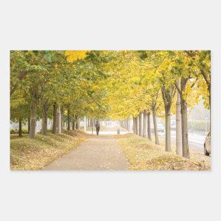 Walking under the trees in Autumn I Sticker