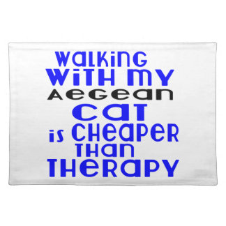 Walking With My Aegean Cat Designs Placemat