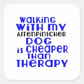 Walking With My Affenpinscher Dog Designs Square Sticker