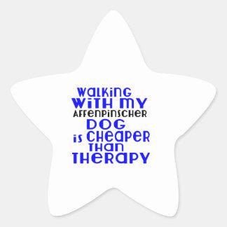 Walking With My Affenpinscher Dog Designs Star Sticker