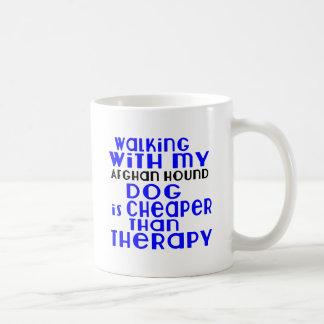 Walking With My Afghan Hound Dog Designs Coffee Mug