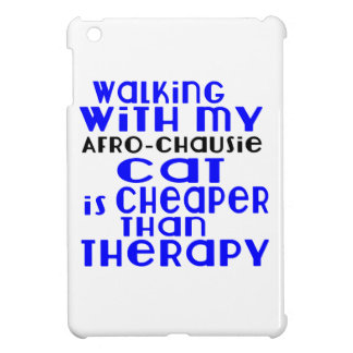 Walking With My Afro-chausie Cat Designs Case For The iPad Mini