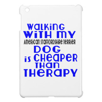Walking With My American Staffordshire Terrier Dog iPad Mini Cover
