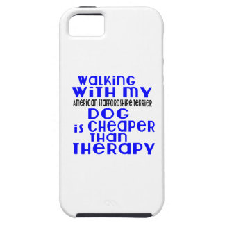 Walking With My American Staffordshire Terrier Dog iPhone 5 Case