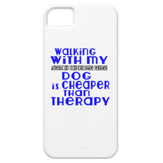 Walking With My American Staffordshire Terrier Dog iPhone 5 Covers