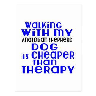 Walking With My Anatolian Shepherd dog Dog Designs Postcard