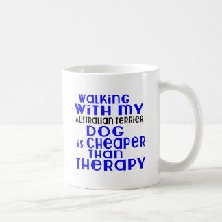 Walking With My Australian Terrier Dog Designs Coffee Mug
