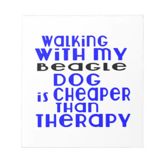 Walking With My Beagle Dog Designs Notepads