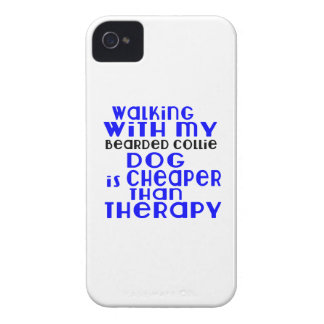 Walking With My Bearded Collie Dog Designs iPhone 4 Case-Mate Case