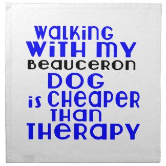 Walking With My Beauceron Dog Designs Napkin