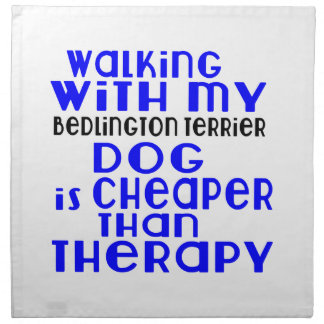 Walking With My Bedlington Terrier Dog Designs Napkin