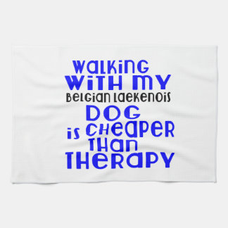 Walking With My Belgian Laekenois Dog Designs Kitchen Towel